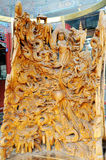 Scultura cinese di legno Immagine Stock Libera da Diritti