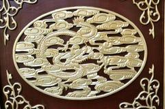 Scultura cinese di legno Fotografia Stock Libera da Diritti