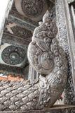 Scultura d'argento di arte in Tailandia Fotografia Stock Libera da Diritti