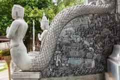 Scultura d'argento di arte in Tailandia Immagini Stock Libere da Diritti