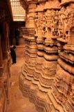 Scultura decorativa delle tempie Jain, Jaisalmer, India Fotografie Stock Libere da Diritti