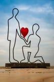 Scultura degli amanti Immagini Stock