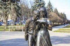 Scultura degli studenti in Krasnodar fotografie stock libere da diritti