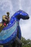 Scultura del cavaliere composta di mosaici Immagini Stock Libere da Diritti