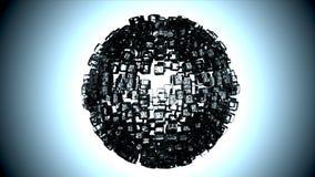 Scultura del cubo di ghiaccio Fotografia Stock