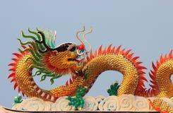 Scultura del drago Fotografie Stock