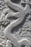 Scultura del drago - alto vicino Fotografia Stock Libera da Diritti