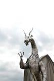 scultura del drago del metallo di lingua gallese Fotografia Stock