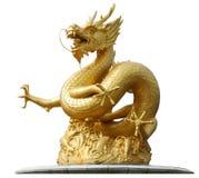 Scultura del drago dell'oro Fotografia Stock Libera da Diritti
