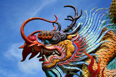 Scultura del drago in Tailandia fotografia stock