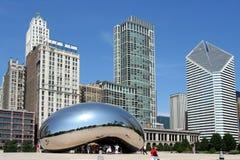 Scultura del fagiolo in Chicago Immagine Stock