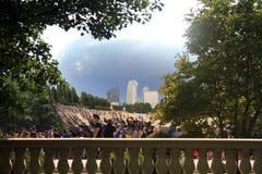Scultura del fagiolo di Chicago Fotografie Stock