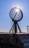 Scultura del globo di Nordkapp Immagini Stock Libere da Diritti