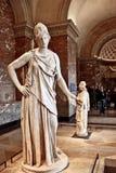 Scultura del greco antico in musee de Louvre Immagini Stock Libere da Diritti