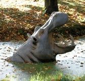Scultura del Hippopotamus Immagine Stock Libera da Diritti