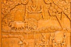 Scultura del legno, arte della Tailandia immagine stock