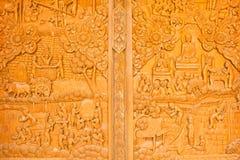 Scultura del legno, arte della Tailandia immagini stock libere da diritti