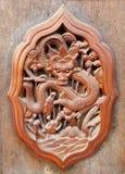 Scultura del legno cinese antica del drago, adobe rgb Immagine Stock Libera da Diritti