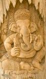 Scultura del legno di Ganesha Fotografia Stock