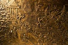Scultura del legno di stile tailandese tradizionale Fotografie Stock