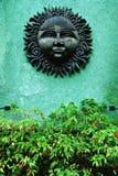 Scultura del legno di Sun dell'annata Immagine Stock