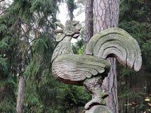 Scultura del legno, gallo Immagini Stock