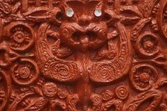 Scultura del legno maori tradizionale Immagini Stock Libere da Diritti