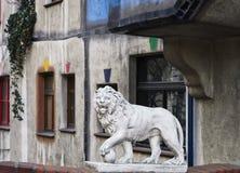 Scultura del leone Fotografie Stock Libere da Diritti