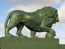 Scultura del leone Fotografia Stock