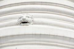 Architettura bianca della pagoda della scultura del leone Fotografie Stock Libere da Diritti