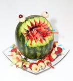 Scultura del melone Immagine Stock