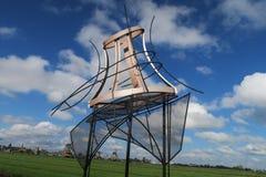 Scultura del mulino a vento Fotografia Stock Libera da Diritti