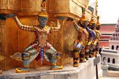Scultura del palazzo reale di Tayland Bangkok di antico Fotografia Stock