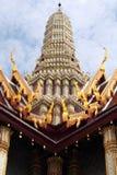 Scultura del palazzo reale di Tayland Bangkok di antico Immagini Stock Libere da Diritti
