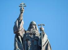 Scultura del patriarca Hermogenes a Mosca Fotografie Stock