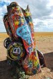 Scultura del pubblico del ranch del Cadillac Fotografia Stock Libera da Diritti