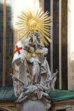 Scultura del san Joahn Capistran che conquista i Turchi Dettaglio della progettazione della cattedrale di St Stephen Vienna, Aust fotografie stock libere da diritti