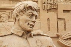 Scultura del soldato sulla mostra Tutto-Russa Immagini Stock Libere da Diritti