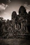 Scultura del tempiale di Bayon a Angkor in Cambogia Fotografia Stock Libera da Diritti