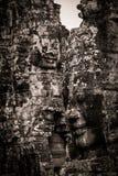 Scultura del tempiale di Bayon a Angkor in Cambogia Immagini Stock Libere da Diritti