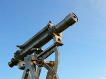 Scultura del teodolite dell'acciaio inossidabile in Consett Fotografia Stock Libera da Diritti