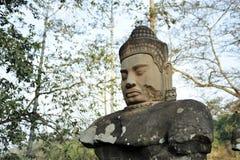 Scultura dell'angelo custode per Angkor Thom Fotografie Stock Libere da Diritti