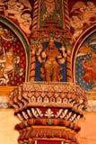 Scultura dell'avatar di Narasimha nel corridoio dharbar del corridoio di ministero del palazzo di maratha del thanjavur Fotografia Stock Libera da Diritti