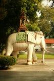 Scultura dell'elefante bianco Fotografia Stock