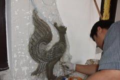 Scultura dell'uccello Immagini Stock Libere da Diritti