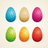 Scultura dell'uovo di Pasqua Immagini Stock Libere da Diritti