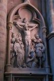 Scultura della chiesa di Jesus Christ immagini stock libere da diritti