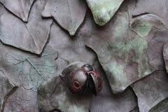 Scultura della coccinella Fotografie Stock Libere da Diritti