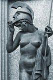 Scultura della dea Athena Immagini Stock