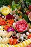 Scultura della decorazione di frutti Fotografia Stock